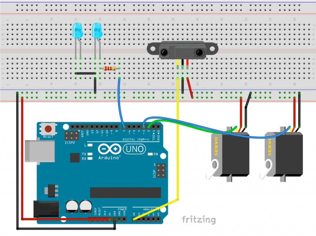 Arduino Halloween Süßigkeitenspender Schaltung Circuit
