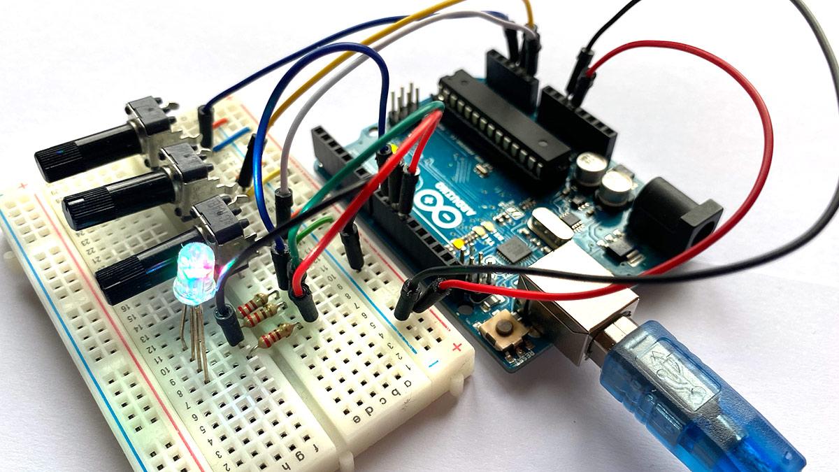 Mit Arduino RGB-LEDs steuern