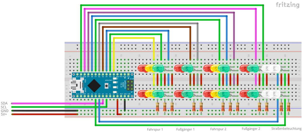OO-Ampel signalisiert LED-Modellbahn-Bahnübergang RSJF Einzelne HO