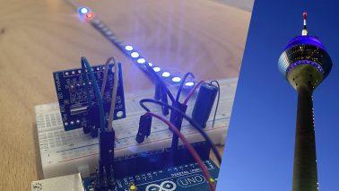 Arduino Rheinturm Lichtpegel Uhr