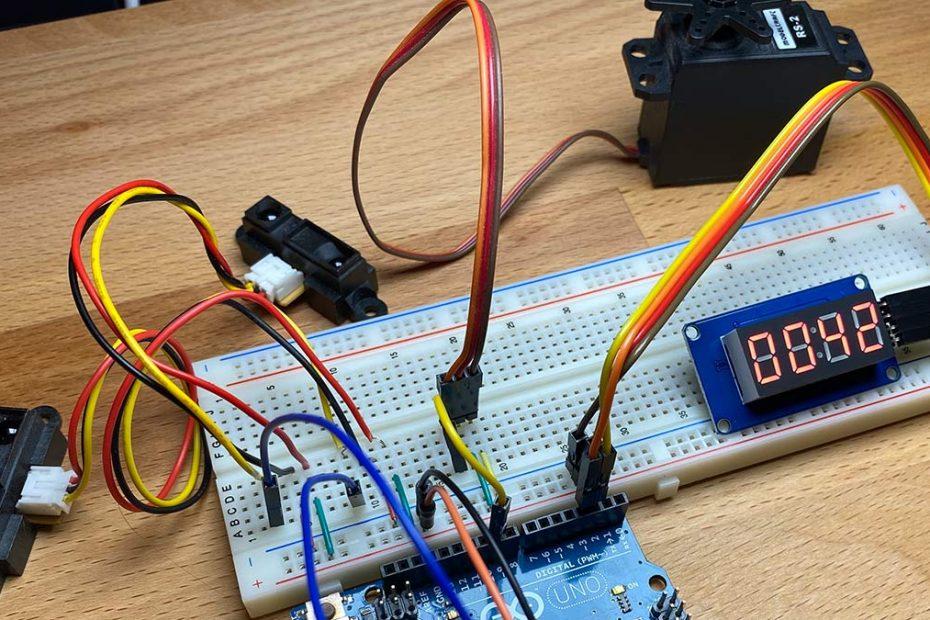Arduino Schranke Modellbau